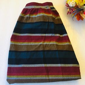 Old Navy multicolor stripped skirt